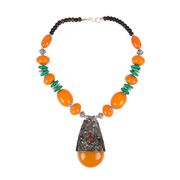 Taj Pearl Multi color Beads Fancy Ethnic Necklace