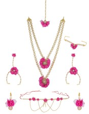Check out Exclusive Flower Jewellery for Haldi online