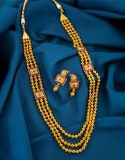 Shop for Gold Long Necklace Designs at Best Price
